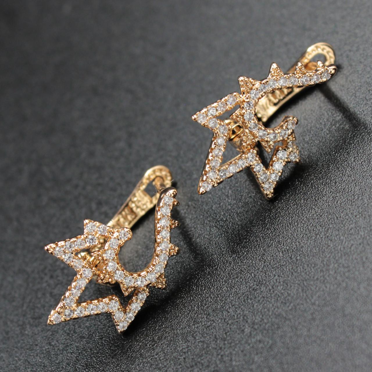 "Серьги женские ""Найле"" Xuping Jewelry (позолота)."