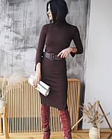 Женское стильное облегающее вязаное платье (3 цвета), фото 1