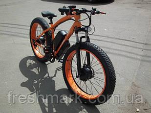 Повнопривідний Електро Фэтбайк Електро велосипед