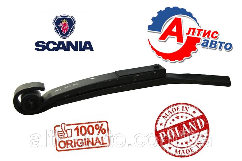 Полурессора Scania коренной лист прямой с сайлентблоком