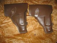 Кобура ПМ с тренчиком и протиркой, кожа, коричневая, ссср