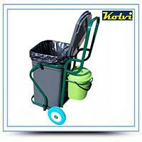 Kolvi ТК-200-90 уборочная тележка для сбора/вывоза бытовых отходов , фото 1