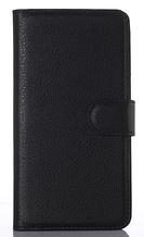 Шкіряний чохол-книжка для HTC Desire 620 чорний