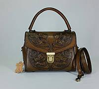 Элегантная женская сумочка ручной работы из натуральной кожи