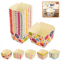 Формочки бумажные для кексов квадратные 100шт/уп