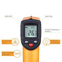 Цифровой инфракрасный лазерный термометр-пирометр Masione -50 + 380 ℃, фото 2