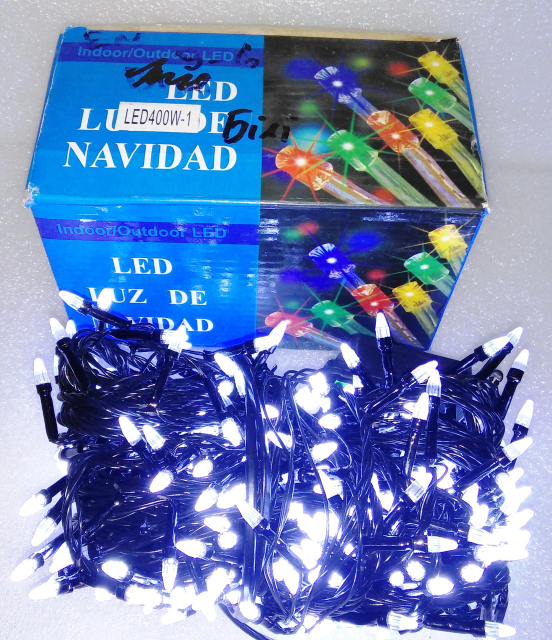Гирлянда діодна 400 LED білі, 24м