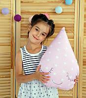 Подушка Хатка Капля Розовая