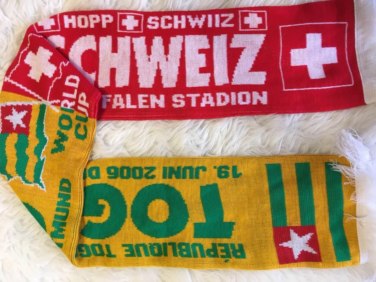 Шарф чемпионат мира 2006 в Германии Того - Швейцария финальный раунд