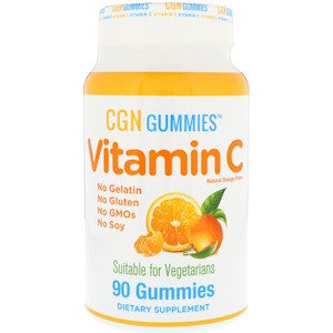 Витамин С, натуральный апельсиновый вкус, вегетарианский, 90 жевательных капсул California Gold Nutrition