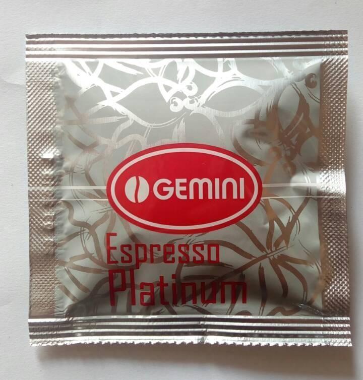 Кофе в чалдах (монодозах) Gemini Espresso Platinum 1шт.