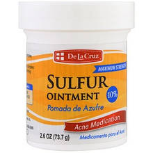 Серная мазь, лечение акне, максимальный эффект (73.7 г) De La Cruz