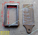 Засувка заслінка пічна чавунна (125х230 мм) печі, барбекю, мангал, фото 2