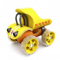 Игрушка  E-Truck Yellow, самосвал бамбуковый, фото 1