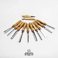Набір стамесок 12 шт. для початківця STRYI для різьби по дереву
