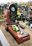 Памятник на могилу из красного гранита