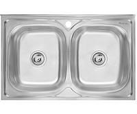 Кухонная мойка Imperial 5080 Decor двойная нержавеющая сталь