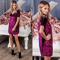 Платье женское вечернее бархатное 1124-04