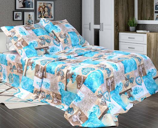 Постельное белье Фантазия синий бязь ТМ Комфорт-текстиль Полуторный, фото 2