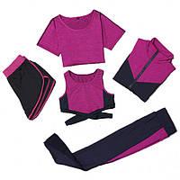 Спортивный комплект для фитнеса New Fit Wear Фуксия L AV013 24c5f4ffb30d2