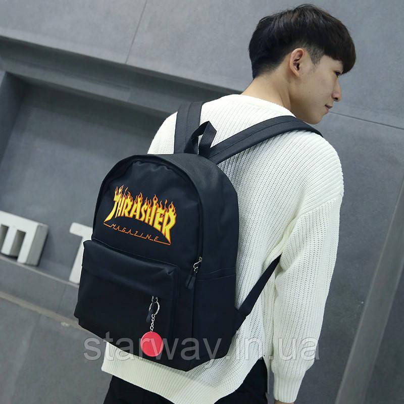 Рюкзак стильный Thrasher огненное лого