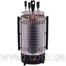 Электрошашлычница Помощница 5 шампуров + колба в подарок 1000Вт