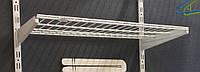 Полка сітчаста шириною 906 мм глубиною 406мм для гардеробної системи зберігання Україна, фото 1