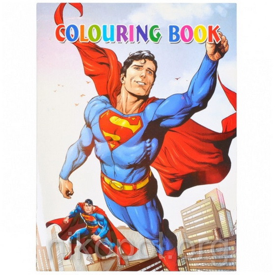 "Раскраска А4 с наклейками ""Супермен"" Y-076"