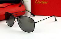 Солнцезащитные очки в стиле Cartier (0692) black, фото 1