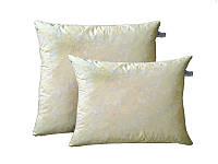 Пухова подушка (наповнювач: пух/перо 50% на 50%) у двох кольорах. Чотири розміри. Білий з блиском.
