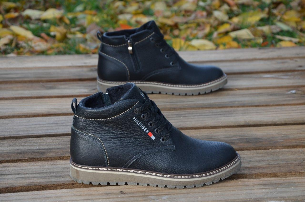 Мужские Кожаные Зимние Ботинки Tommy Hilfiger — в Категории