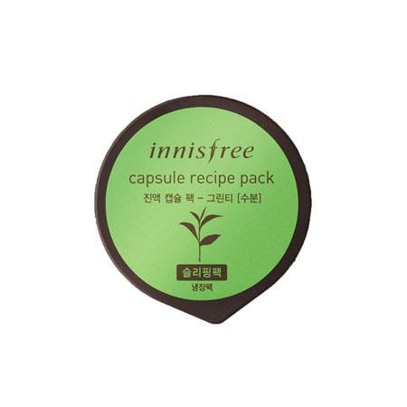 Маска для лица с экстрактом зеленого чая Innisfree Capsule Recipe Pack Green Tea