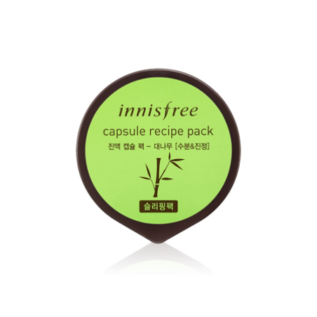 Ночная маска для лица с экстрактом бамбука Innisfree Capsule Recipe Pack Bamboo