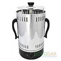 Электрошашлычница Помощница 6 шампуров + колба в подарок 1000Вт с таймером
