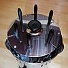 Электрошашлычница Помощница 6 шампуров + колба в подарок 1000Вт с таймером, фото 4