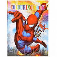 раскраска а4 с наклейками человек паук Y 003