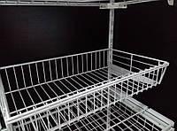 Кошик сітчастий шириною 606 мм глубиною 306мм для гардеробної системи зберігання Україна, фото 1