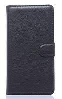 Кожаный чехол-книжка для Samsung Galaxy A3 A300 черный