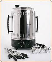 Электрошашлычница Помошница 8 шампуров + колба в подарок 1200Вт с таймером