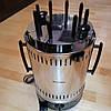 Электрошашлычница Помощница 8 шампуров + колба в подарок 1200Вт с таймером, фото 2