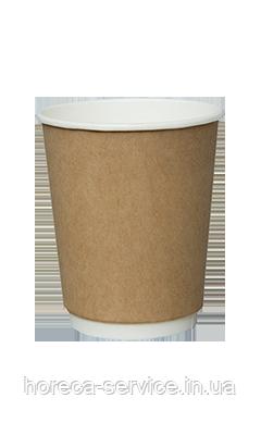 Бумажный стакан двухслойный крафт CRAFT 185 мл. 25 шт/упак