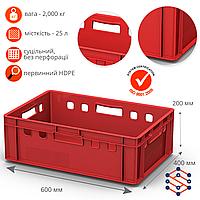 Ящик полимерный для мяса морозостойкий (600х400х200 мм)