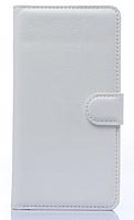Кожаный чехол-книжка для Samsung Galaxy A3 A300 белый