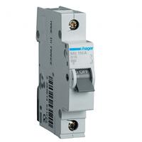 Автоматический выключатель HAGER однополюсный 1P 10А B , MB110A