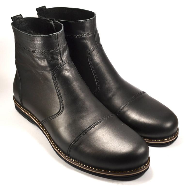 Большой размер челси ботинки зимние мужские Rosso Avangard Danni Comfort Black черные