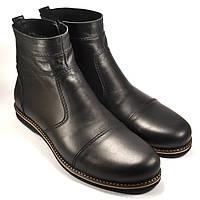 Большой размер челси ботинки зимние мужские Rosso Avangard Danni Comfort Black черные, фото 1