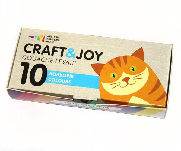 """Фарби гуашеві """"Craft & Joy"""" 10 кольорів"""
