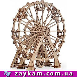 Колесо огляду 00002 - дерев'яний 3D пазл Wood trick (механічний дерев'яний конструктор) Вуд трик