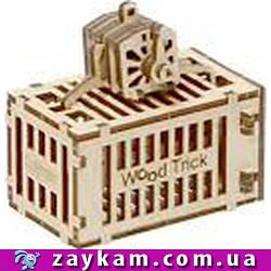 Контейнер для крана 00005a - дерев'яний 3D пазл Wood trick (механічний дерев'яний конструктор)