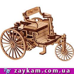 Перший автомобіль 00007 - дерев'яний 3D пазл Wood trick (механічний дерев'яний конструктор)